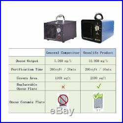 10g Commercial Industrial Ozone Generator Powerful Pro Air Purifier Mold Mildew