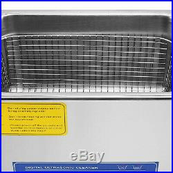15L Commercial Ultrasonic Cleaner Stainless Steel Industry Heated Heater withTimer