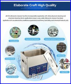 6L Ultrasonic Cleaner Stainless Steel Industry Heated Heater withTimer NEW