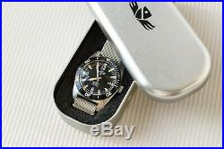 Brand New Military Industries 1970s Pattern 24 Jewel Stainless Steel Diver Watch