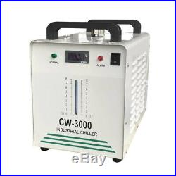 CW-3000 Industrial Water Chiller cooling single 60W 80W CO2 Laser Tube 110V 60HZ