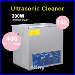 Stainless Steel 2 L to 30L Industry Ultrasonic Cleaner Heated Heater withTimer New